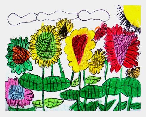 孩子们在绘画中的想象力及夸张表现是很多成年人无法理解的!