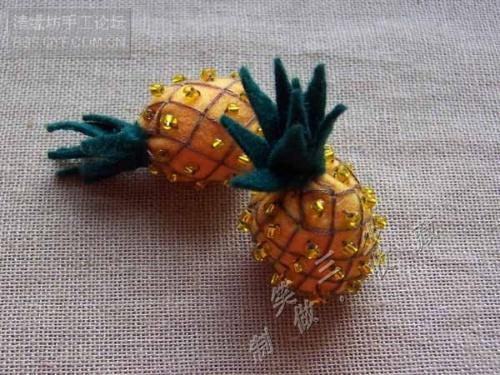 不织布菠萝制作教程-----转