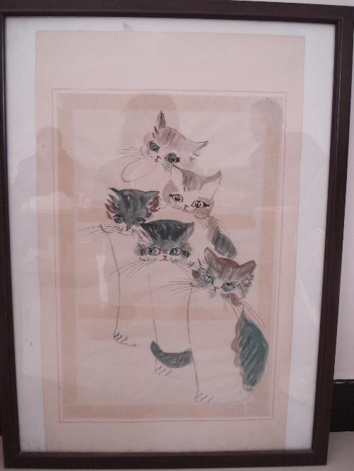 吧 百度贴吧 工笔猫画法 二 教儿童画中国画猫的画法 陈军画猫 中国画图片