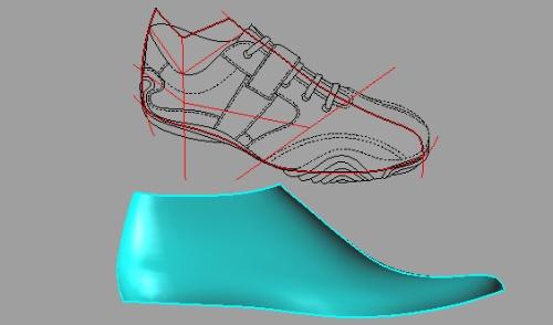 利用通用软件进行计算机辅助鞋样设计