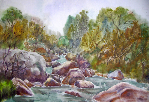 我在林州石板岩高家台画的水彩-艺术人生刘永超-搜狐