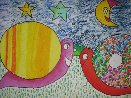 儿童海底世界涂鸦墙