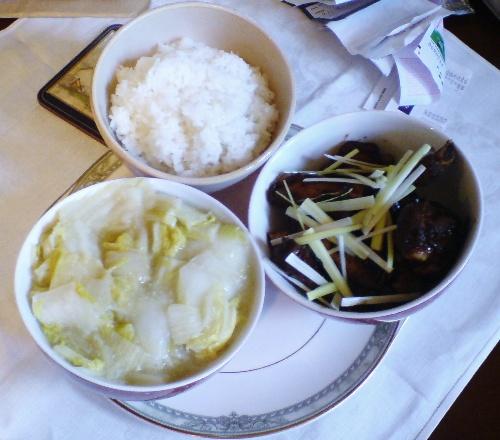 豉椒排骨 醋熘白菜