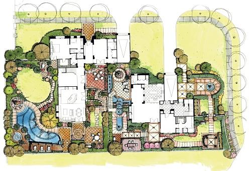小庭院设计平面图_小庭院设计手绘平面图-小庭院设计-搜狐博客
