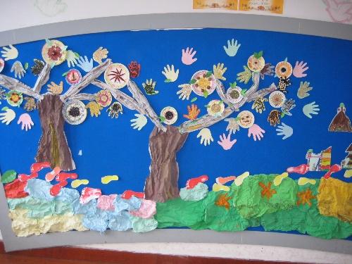 学校规定制作材料要用废旧物资,发挥幼儿的自主性,让幼儿参与.