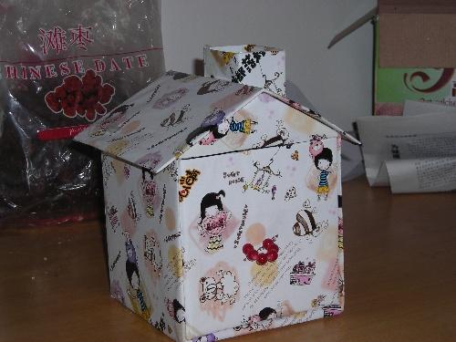 用纸盒做小房子图解 图纸
