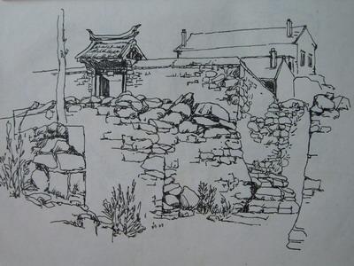 钢笔速写 钢笔风景 钢笔画篇 书画美术 设计素材