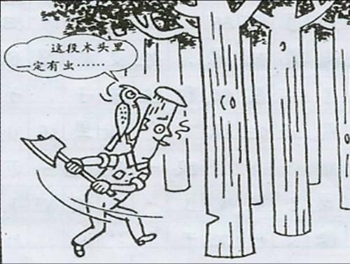 真的有虫子吗 一大早,长头李就起床了,拿上了他一年没用过的斧子,来到了树林。 为什么一年都没有用斧子呢?现在又拿出来做什么呢?原来,在一年前,他是经常用斧子的。那天,他砍了二十棵树,以一根四十元的价钱卖给了树贩子。正当他美滋滋地数着得来的八百元钱时,他和树贩子一起就被埋伏在周围的警察抓个正着,被关了十五天,还被罚了一万元。