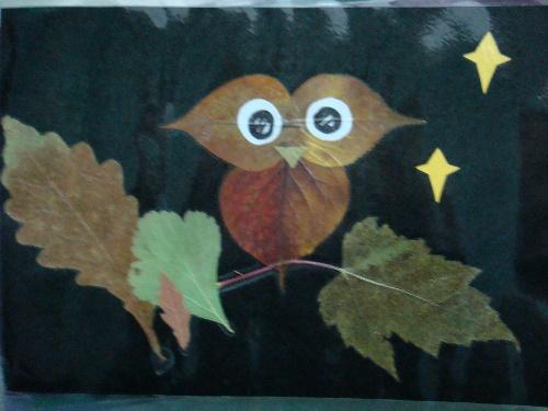 幼儿园碎布粘贴画