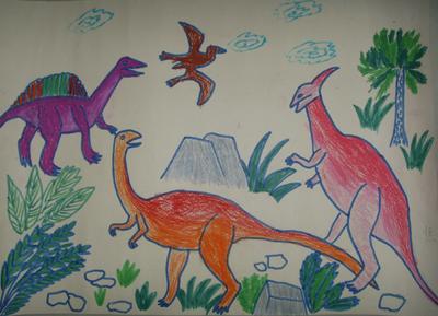 画儿——快乐的海底生活,瓶子,恐龙