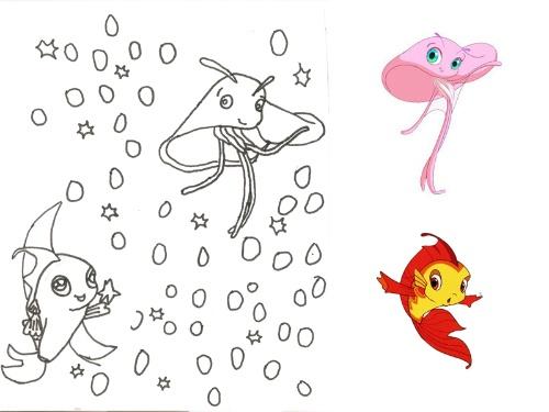 小鲤鱼>,经常自己在那里画小鲤鱼