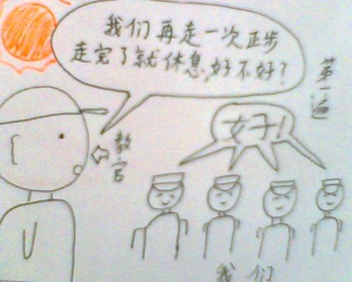军训简笔画儿童画
