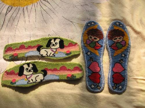汉字十字绣鞋垫图纸