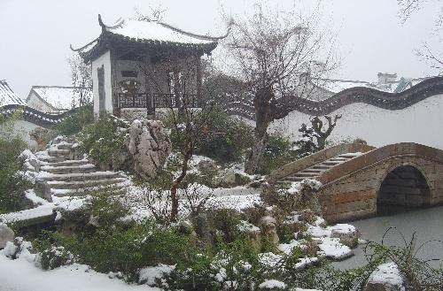 雪中江南庭院化工课程原理v庭院cad图片