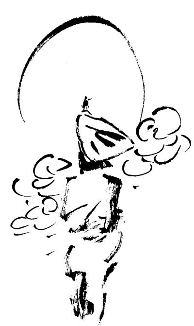 长征手绘q版插画