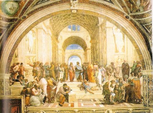 雅典学派 拉斐尔壁画  罗马梵蒂冈1509年
