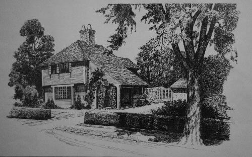 我画的钢笔画:宁静的房屋一(临摹)