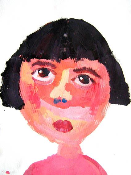 儿童画-头像写生(水粉)