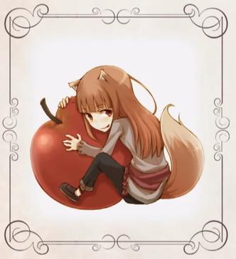 我选的头像是片尾中的,贤狼最喜欢吃红红的苹果,一旦抱上就谁也别想