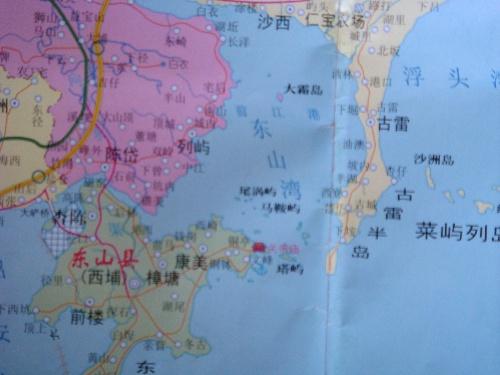 漳州东山岛 地图