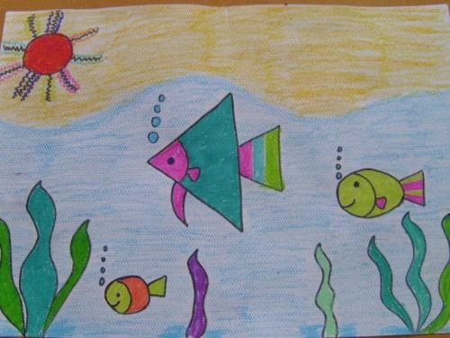 幼儿海底世界简笔画 海底世界简笔画图片 彩色简笔画海底世界