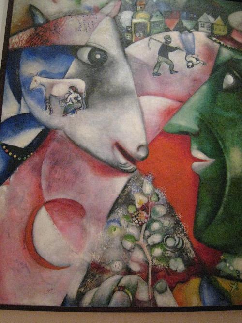 前往巴黎学习绘画,中间历尽疯狂的艰辛,这幅画便是他在法国习作之一.