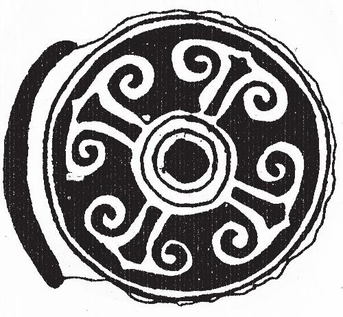 而这类云纹瓦当则还保留着先秦纹饰的遗风.
