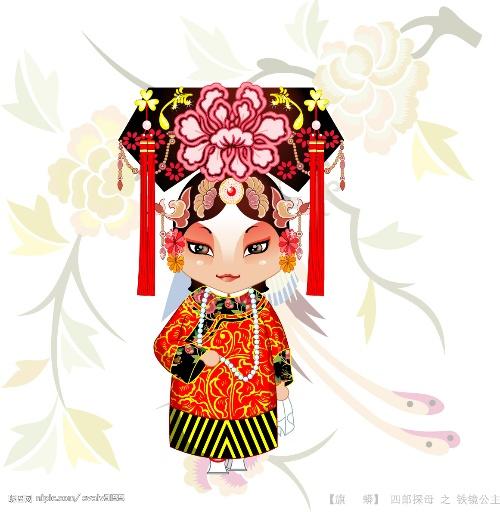 找了几个比较可爱的卡通京剧人物