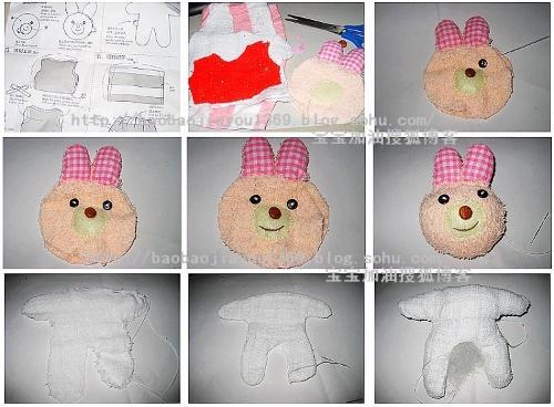 宝宝做手工---手工小兔子~~~-宝宝加油-快乐美食