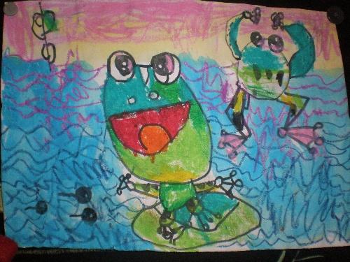 幼儿园小班送给老师的图画作品
