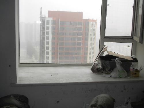 6)窗台大理石铺装完成