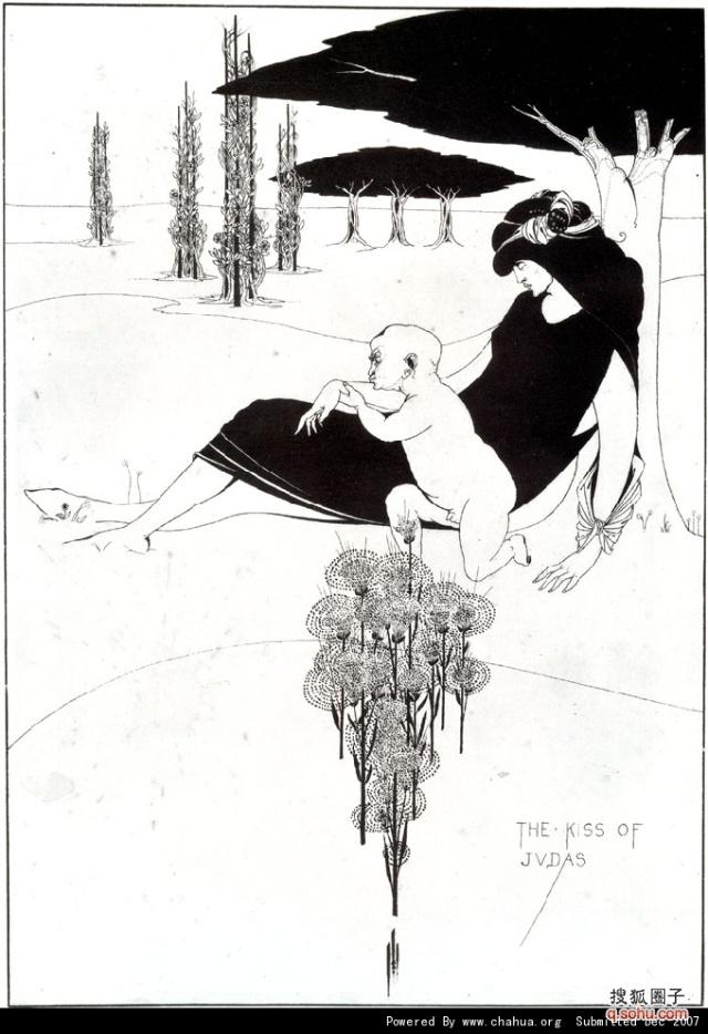 天才短命的黑白装饰插画大师——奥布雷